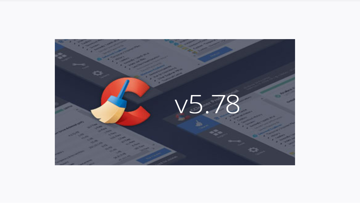 CCleaner 5.78 update available for download